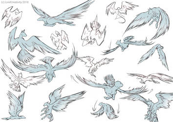 Wing gestures/poses practice [F2U] by LividCreativity