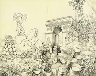 Paris Collage by FionaMeng