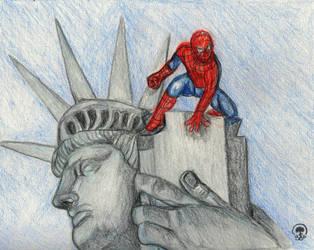 fan art spider man by Sajdartecreativo