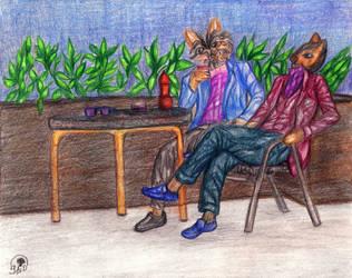 meeting of friends by Sajdartecreativo