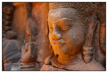 Angkor Engraving I by Lucanos