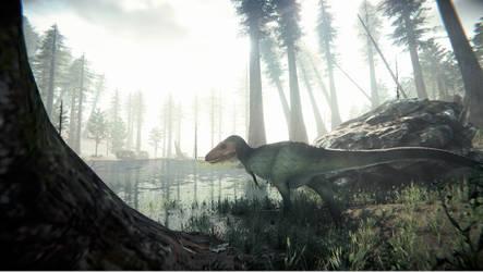 Sub Adult Tyrannosaurus by arcupion