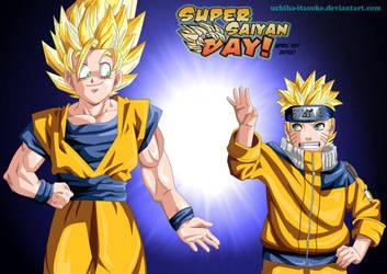 Goku e Naruto Super Saiyan Day by Adriano-Arts
