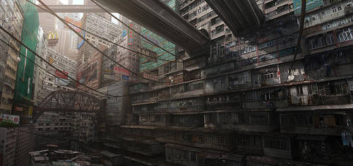 Matte Painting for KOR3 by PATLAU