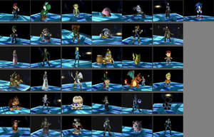 Smash Bros Characters by jrt1025