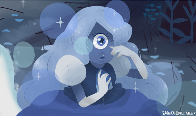 "I redraw the cutest scene from the episode ""The awnser"" of Steven Universe"