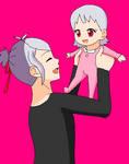 Otori with baby Sora by StarmyuFanYuta98