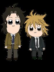 Ajino and Kai Pop Team Epic style by StarmyuFanYuta98