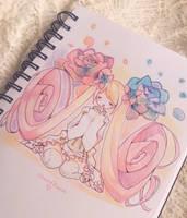 Inktober Day 1: rose petal by ShiiroHana