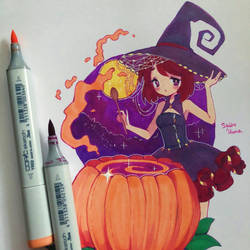 Aninktober Day 1 - Pumpkin Carving by ShiiroHana