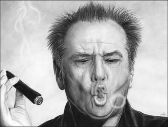 Jack Nicholson by NicksPencil