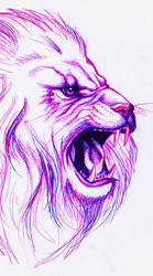 Blue and Urple Lion by tessy-chan