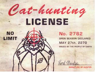 Kzinti-hunting licence by lordMartiya