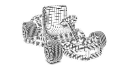 Mario kart stylized by albertRoberto