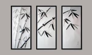 Bamboos -- triptych by KarolineJuzanx