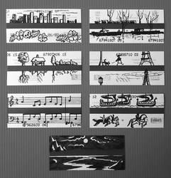 My Subway Tickets by KarolineJuzanx