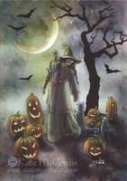 A witchy walk on Halloween by leelastarsky