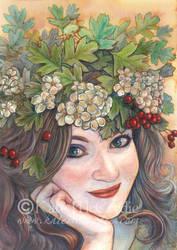 The Hawthorn Queen. by leelastarsky