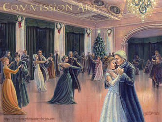 A Yule Ball at Malfoy Manor by leelastarsky