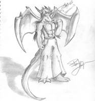 'Darkness' - Dragon Anthro by ShadowPaladin