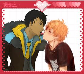 [DmPkmn] Nol and Cale Kissu by NinjaSoulreaper27