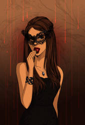 Vampire Diaries Katherine by GRAYSCALED
