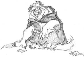 Beast is afraid of mice? by JesusIsMyHomie
