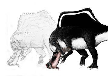 Spinosaurus  (Pencil) by Lythroversor