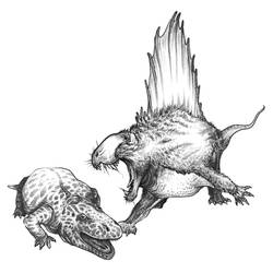Dimetrodon by Lythroversor