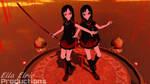 MMD Lat Saya Kisaragi From Blood-C + DL by Alice--Phantomhive