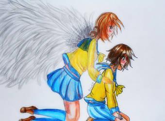 Seiko and Naomi from Corpse Party by Nekokorochii