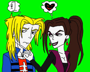 Antonio (Me) and Lisa DarkHeart by SUP-FAN