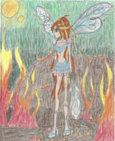 The last of the fairies on a burning planet... by timefairy237