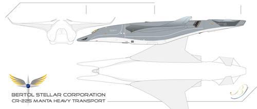 Republic CR-225 Manta Heavy Transport WIP by Galen82