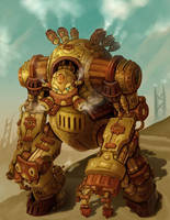 Steampunk Robot Warrior - Groxx by arm01