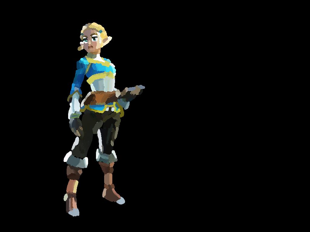 Zelda - Fond Blanc by LinkyBrutus