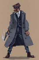 Arthur Shelby- Peaky blinders by LeonardDelebecq