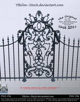 Black barock iron gate II by YBsilon-Stock by YBsilon-Stock