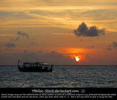 Sunset on Maldives by YBsilon-Stock