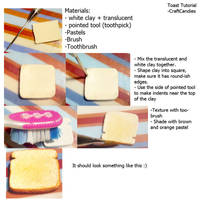 Polymer Clay : Toast Tutorial by CraftCandies