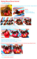 Polymer Clay : Mickey Mouse donut tutorial by CraftCandies