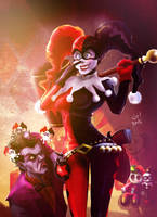 Harley Quinn and Mister J by elprofheta
