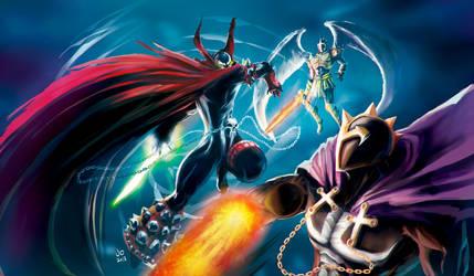 Spawn vs The Redeemer (anti spawn) by elprofheta