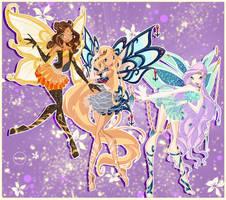 Skadi,Pino,Sophia-Enchantix by govril