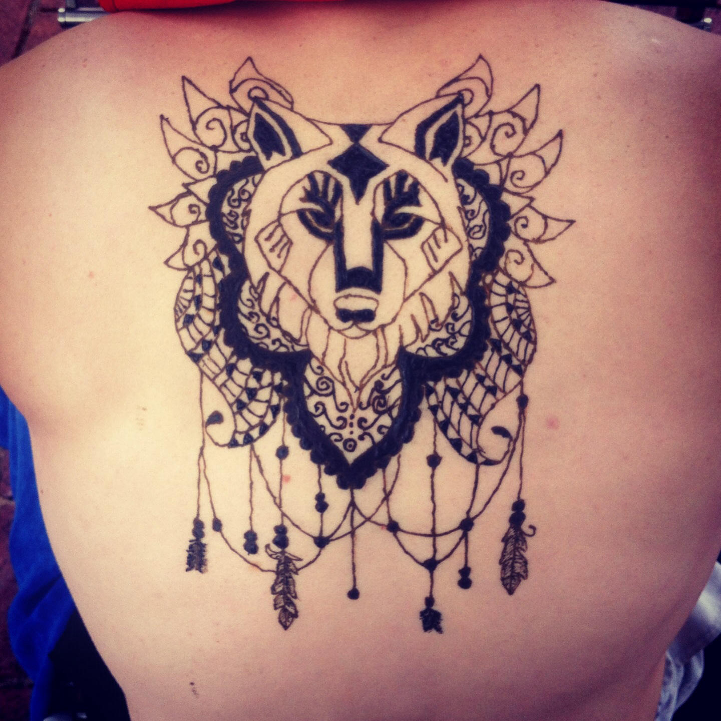 Easy Wolf Henna Www Topsimages Com