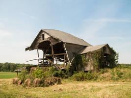 Abandoned Barn in Ruins-1 by RowyeStock