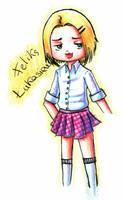 APH - Feliks in skirt by CloeTheCat