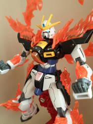 HG 1/144 Try Burning Gundam - Custom Colors - 4 by chronosaluke