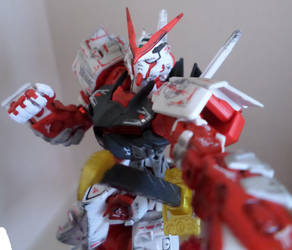 Gunpla Selfie #1 RG Astray Red Frame by chronosaluke