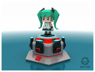 Hatsune Miku Cube 242 by craneo242